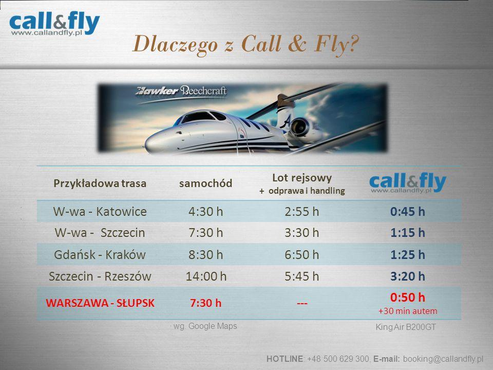 Page 13 Dlaczego z Call & Fly? Przykładowa trasasamochód Lot rejsowy + odprawa i handling W-wa - Katowice4:30 h2:55 h0:45 h W-wa - Szczecin7:30 h3:30