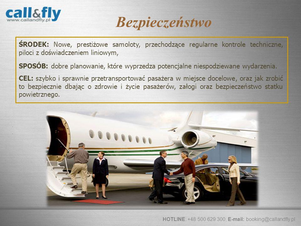 Page 8 ŚRODEK: Nowe, prestiżowe samoloty, przechodzące regularne kontrole techniczne, piloci z doświadczeniem liniowym, HOTLINE: +48 500 629 300, E-ma