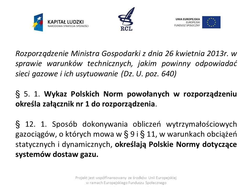 Rozporządzenie Ministra Gospodarki z dnia 26 kwietnia 2013r.