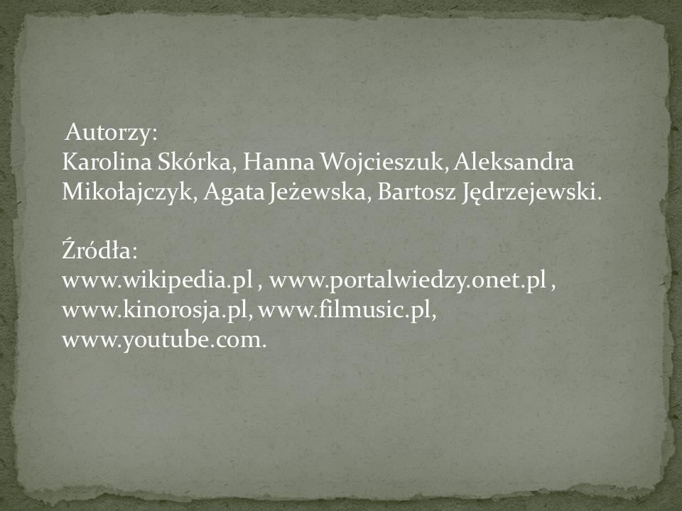 Autorzy: Karolina Skórka, Hanna Wojcieszuk, Aleksandra Mikołajczyk, Agata Jeżewska, Bartosz Jędrzejewski.