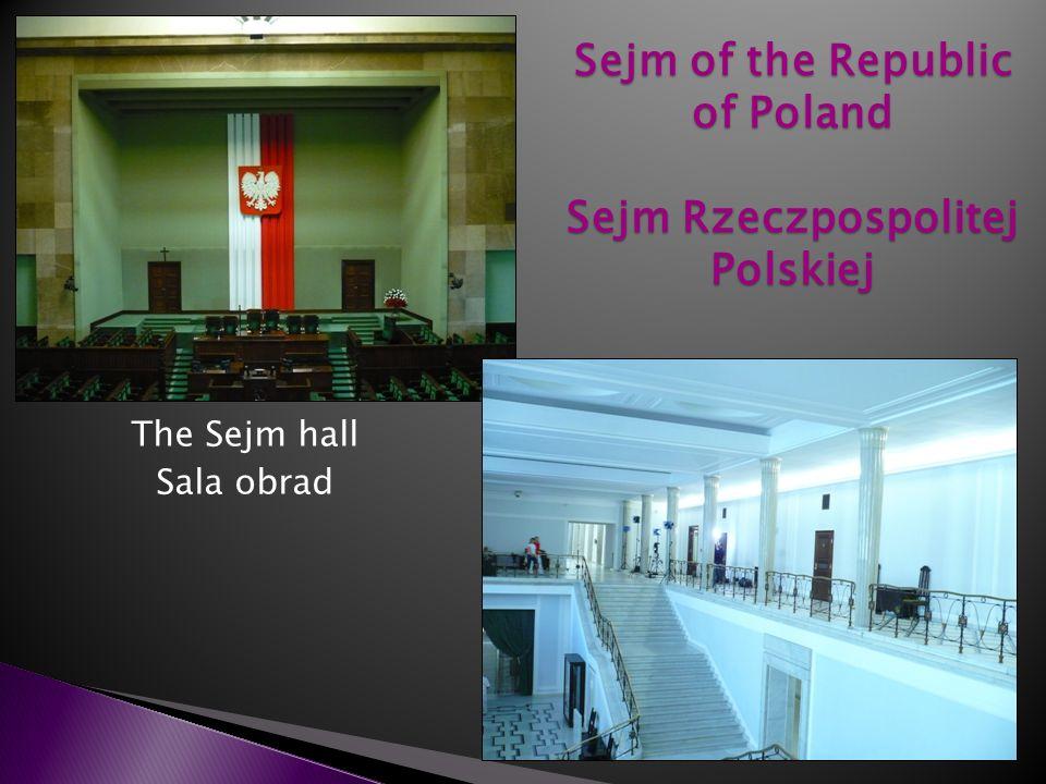 The Sejm hall Sala obrad Sejm of the Republic of Poland Sejm Rzeczpospolitej Polskiej