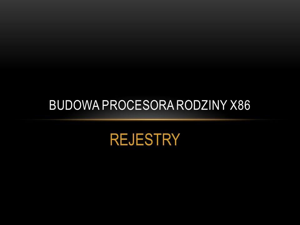 REJESTRY BUDOWA PROCESORA RODZINY X86