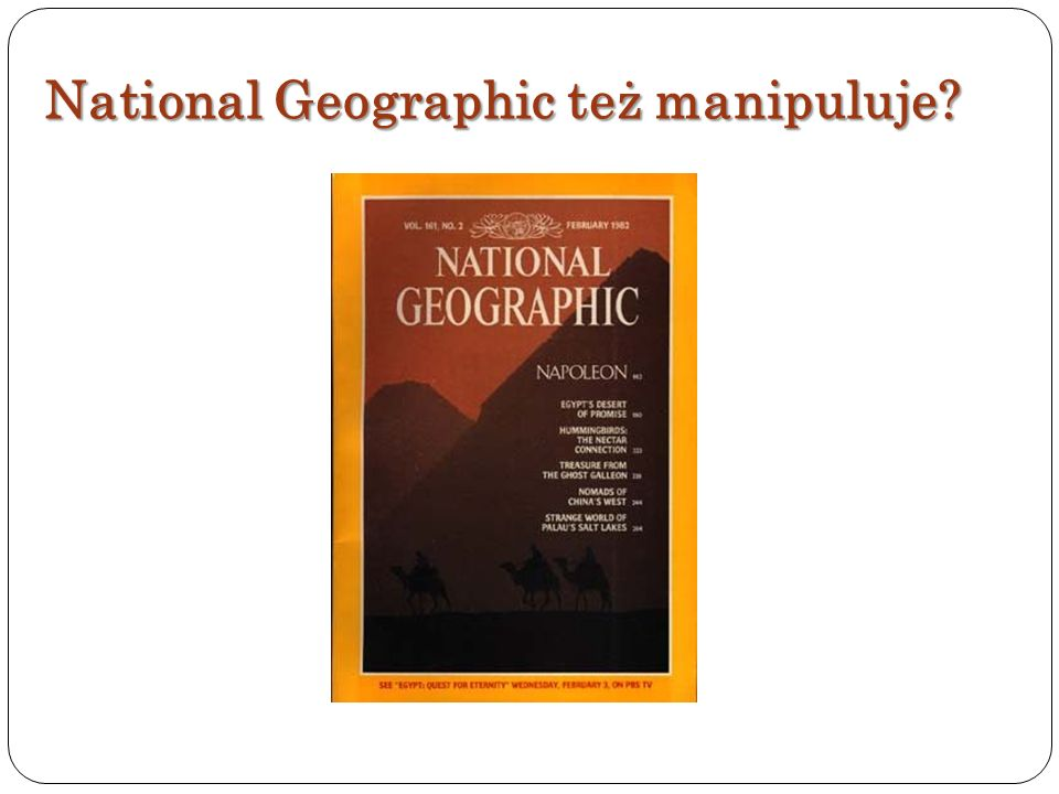 National Geographic też manipuluje?