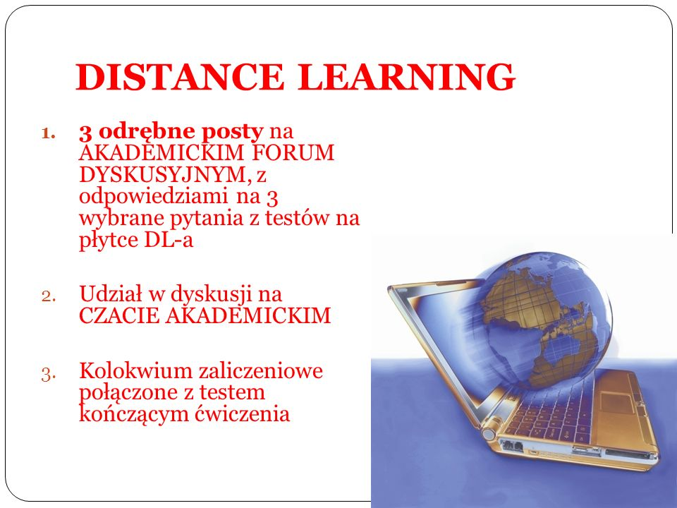 DISTANCE LEARNING 1.