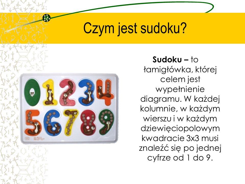 Sudoku Przygotował: Marcin Horak