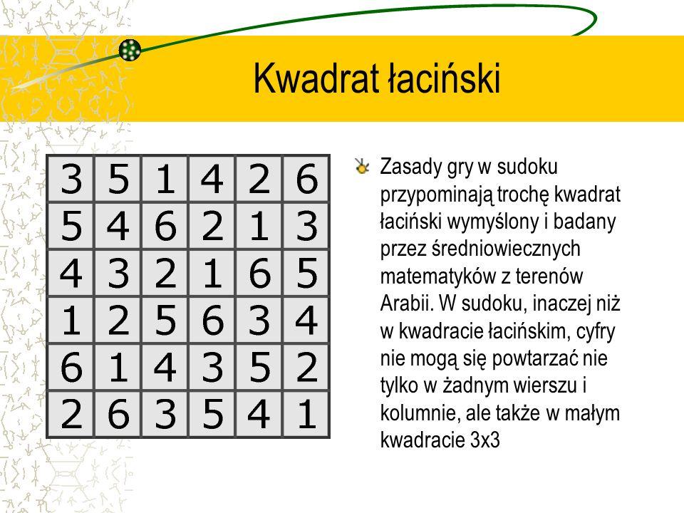 Co to znaczy sudoku? Nazwa sudoku pochodzi od słowa sūji wa dokushin ni kagiru, czyli cyfry muszą być pojedyncze.
