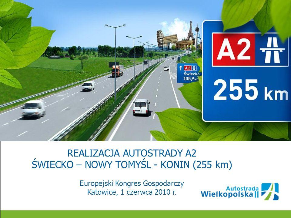 BUDOWA A2 ŚWIECKO – NOWY TOMYŚL (105,9 km) KWIECIEŃ 2010