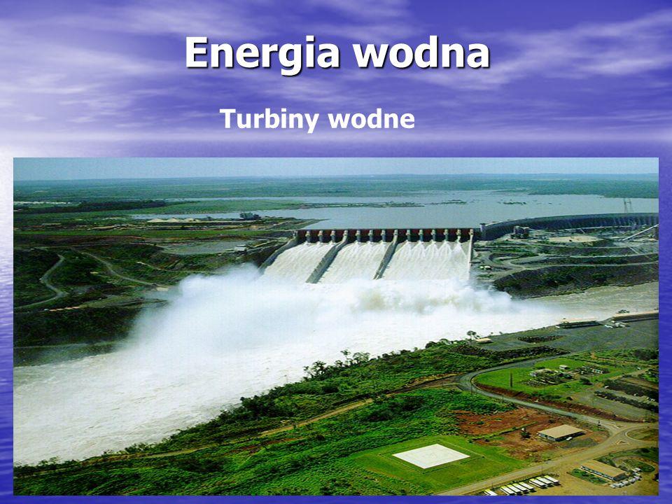 Energia wodna Turbiny wodne