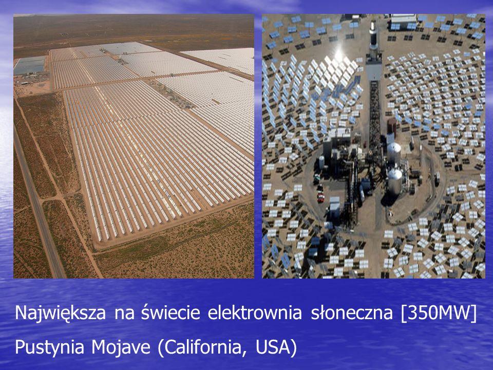 Największa na świecie elektrownia słoneczna [350MW] Pustynia Mojave (California, USA)