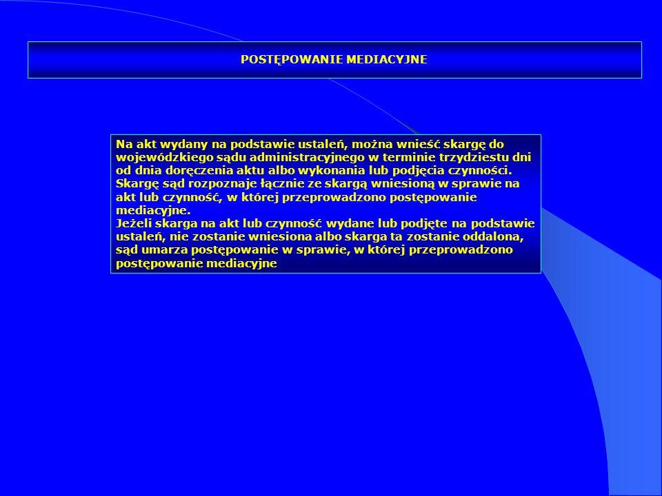 Na akt wydany na podstawie ustaleń, można wnieść skargę do wojewódzkiego sądu administracyjnego w terminie trzydziestu dni od dnia doręczenia aktu alb