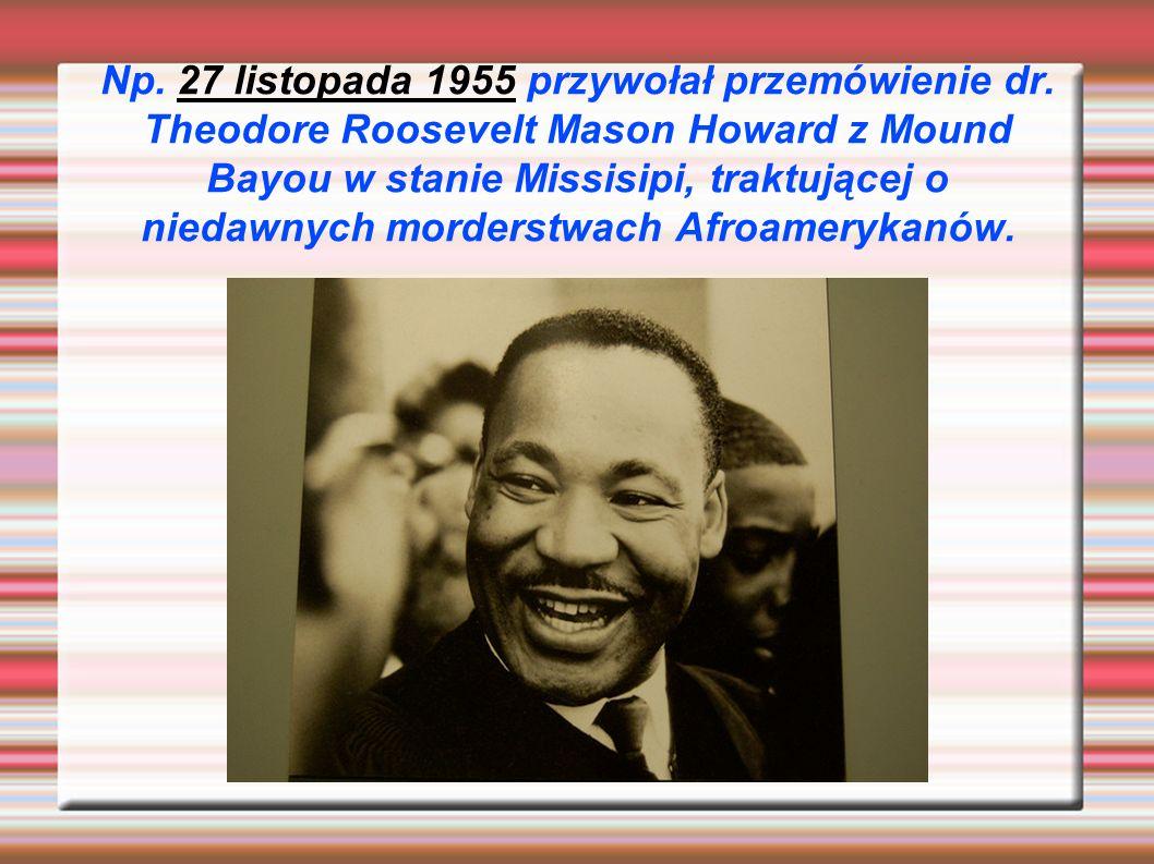 Howard od 1951 przewodził organizacji Regional Council of Negro Leadership, działającej na rzecz równouprawnienia.