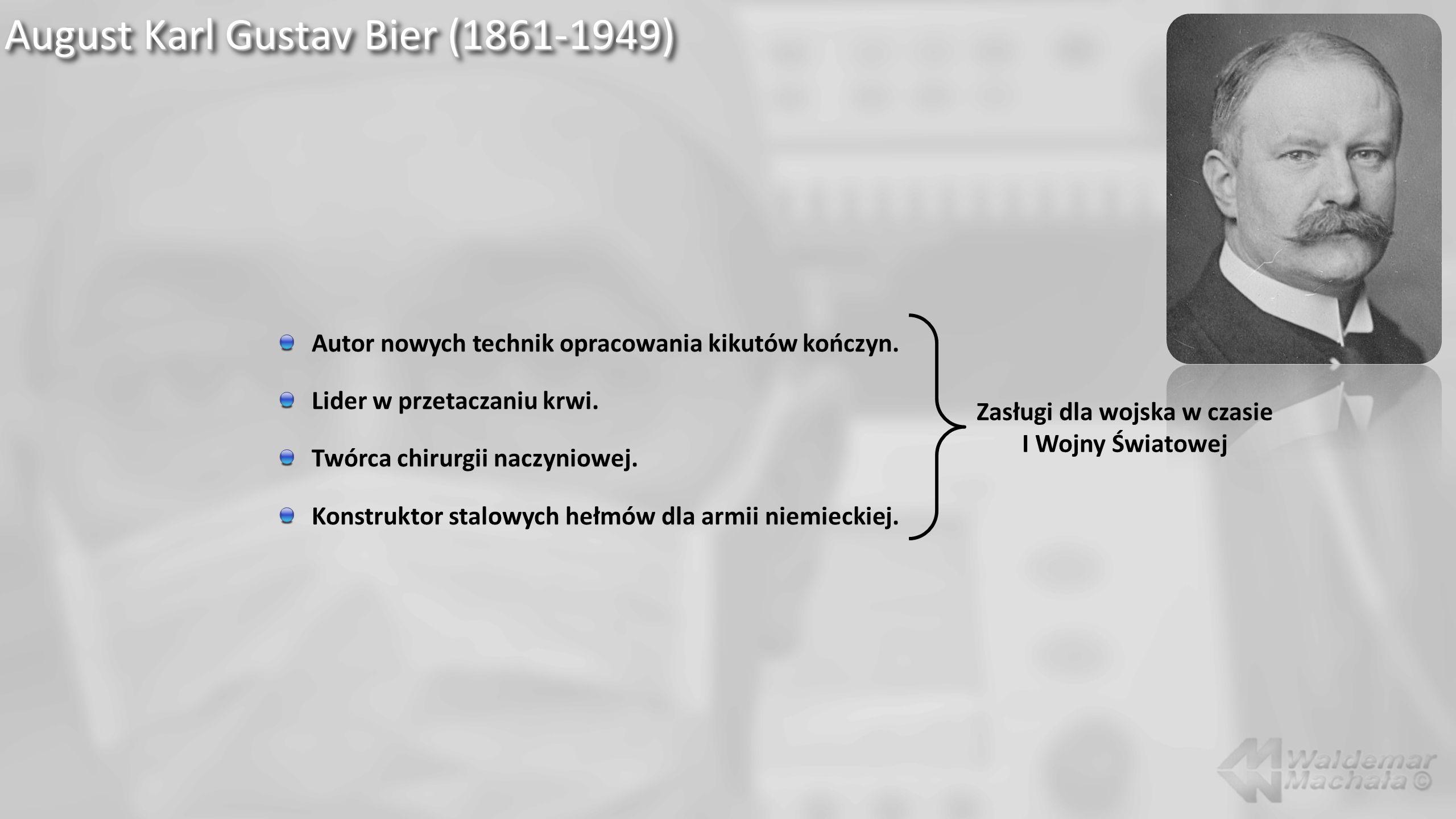August Karl Gustav Bier (1861-1949) Ten.tego