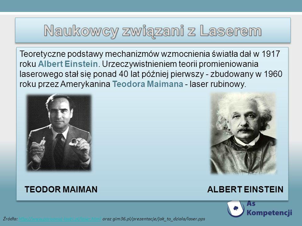 Teoretyczne podstawy mechanizmów wzmocnienia światła dał w 1917 roku Albert Einstein. Urzeczywistnieniem teorii promieniowania laserowego stał się pon