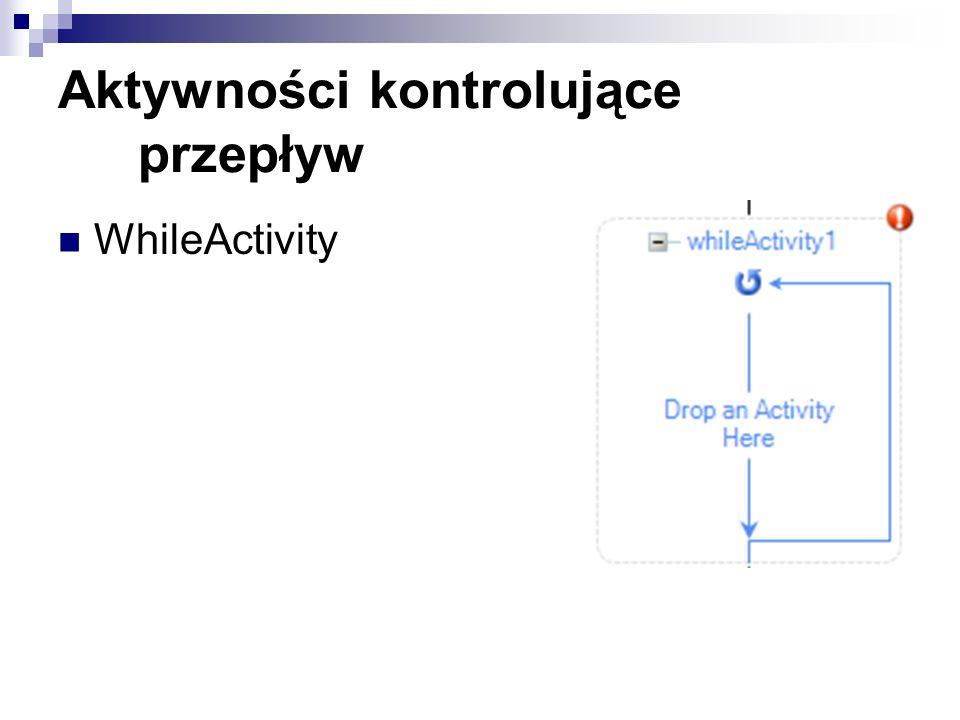 Aktywności kontrolujące przepływ WhileActivity