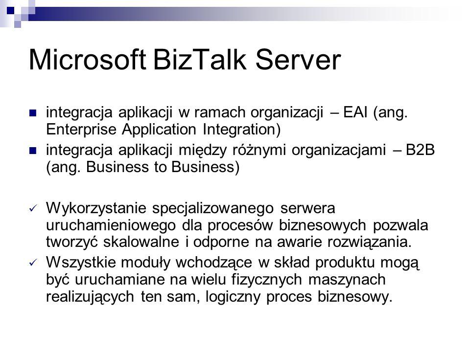 Microsoft BizTalk Server integracja aplikacji w ramach organizacji – EAI (ang.
