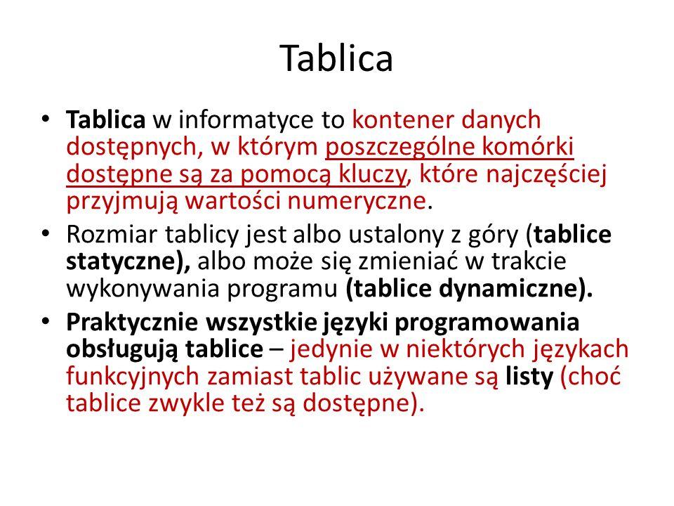 Lista Lista - rodzaj kontenera - dynamiczna struktura danych, używana w informatyce.