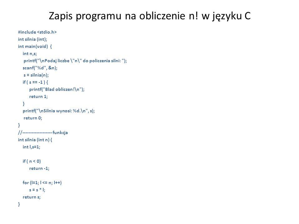 Algorytmy - konwencja notacyjna 1) Deklaracja zmiennych – stałe P; – całkowite N; – rzeczywiste N; – logiczne N; {gdzie N - lista zmiennych, P - lista podstawień}