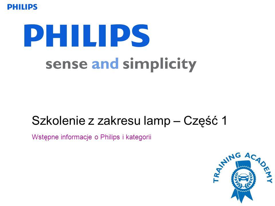 Szkolenie z zakresu lamp – Część 1 Wstępne informacje o Philips i kategorii