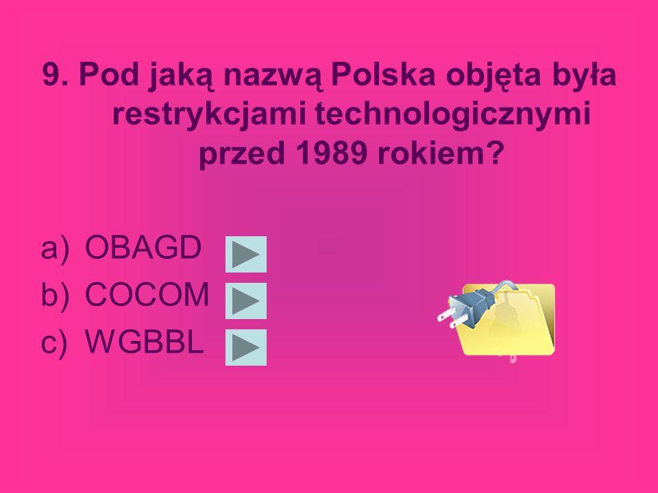 8.W których latach powstał Internet na świecie.
