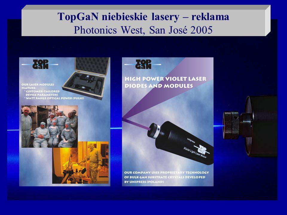 TopGaN niebieskie lasery – reklama Photonics West, San José 2005