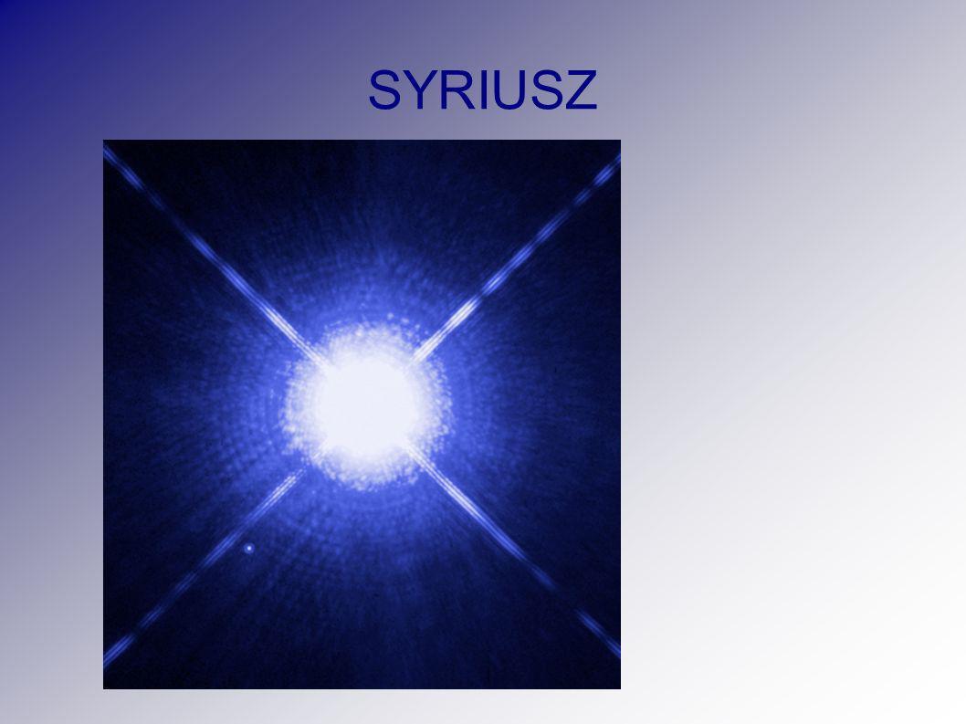 Najjaśniejsze gwiazdy: 1.Słońce 2. Alpha Canis Majoris Syriusz (α CMa) 3.