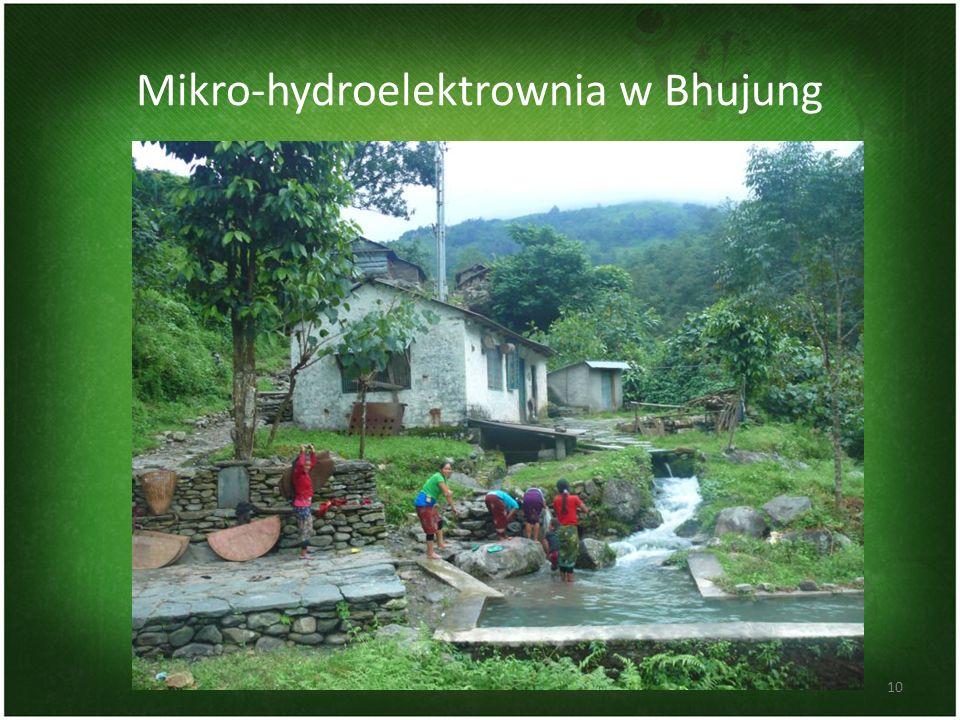 Mikro-hydroelektrownia w Bhujung 10
