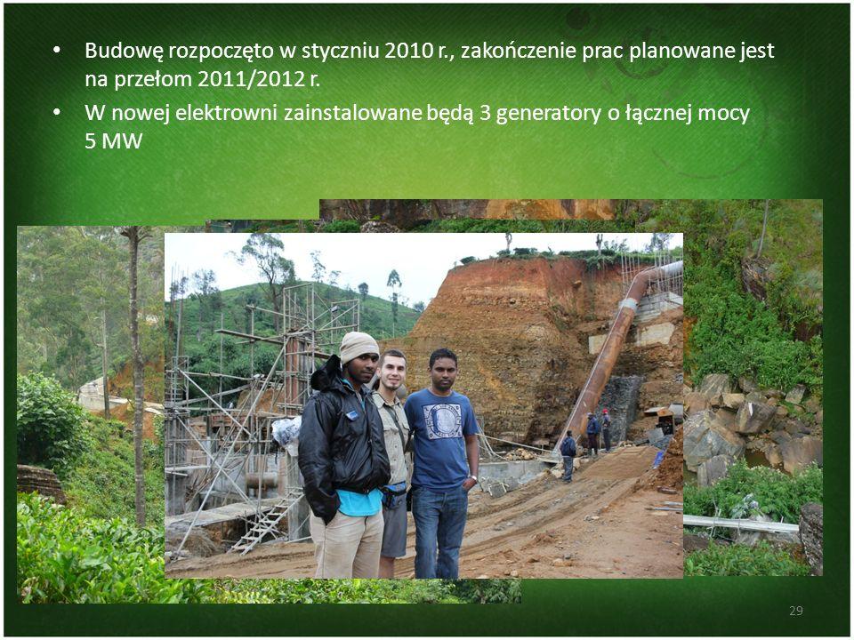Budowę rozpoczęto w styczniu 2010 r., zakończenie prac planowane jest na przełom 2011/2012 r. W nowej elektrowni zainstalowane będą 3 generatory o łąc