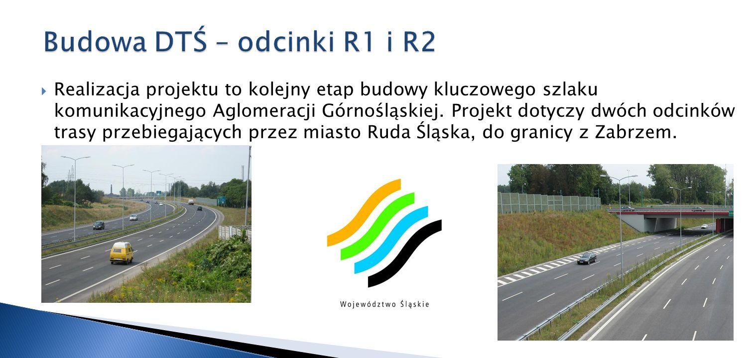 Realizacja projektu to kolejny etap budowy kluczowego szlaku komunikacyjnego Aglomeracji Górnośląskiej. Projekt dotyczy dwóch odcinków trasy przebiega