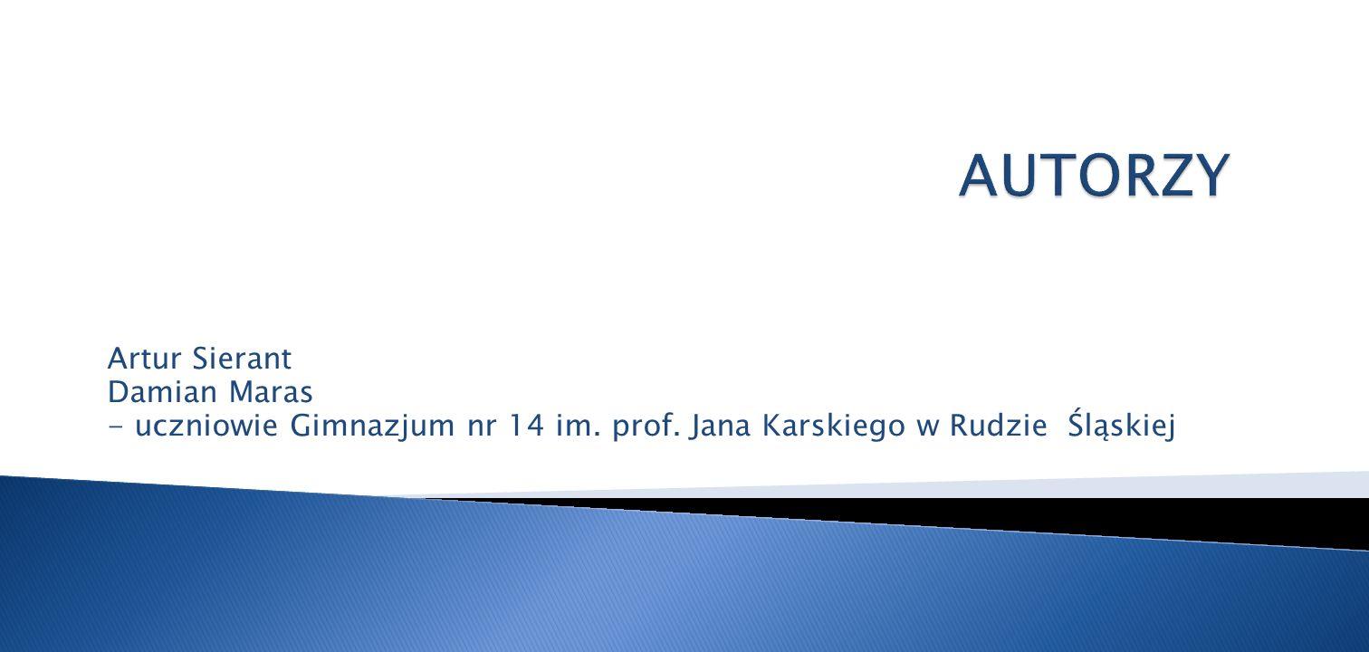 Artur Sierant Damian Maras - uczniowie Gimnazjum nr 14 im. prof. Jana Karskiego w Rudzie Śląskiej