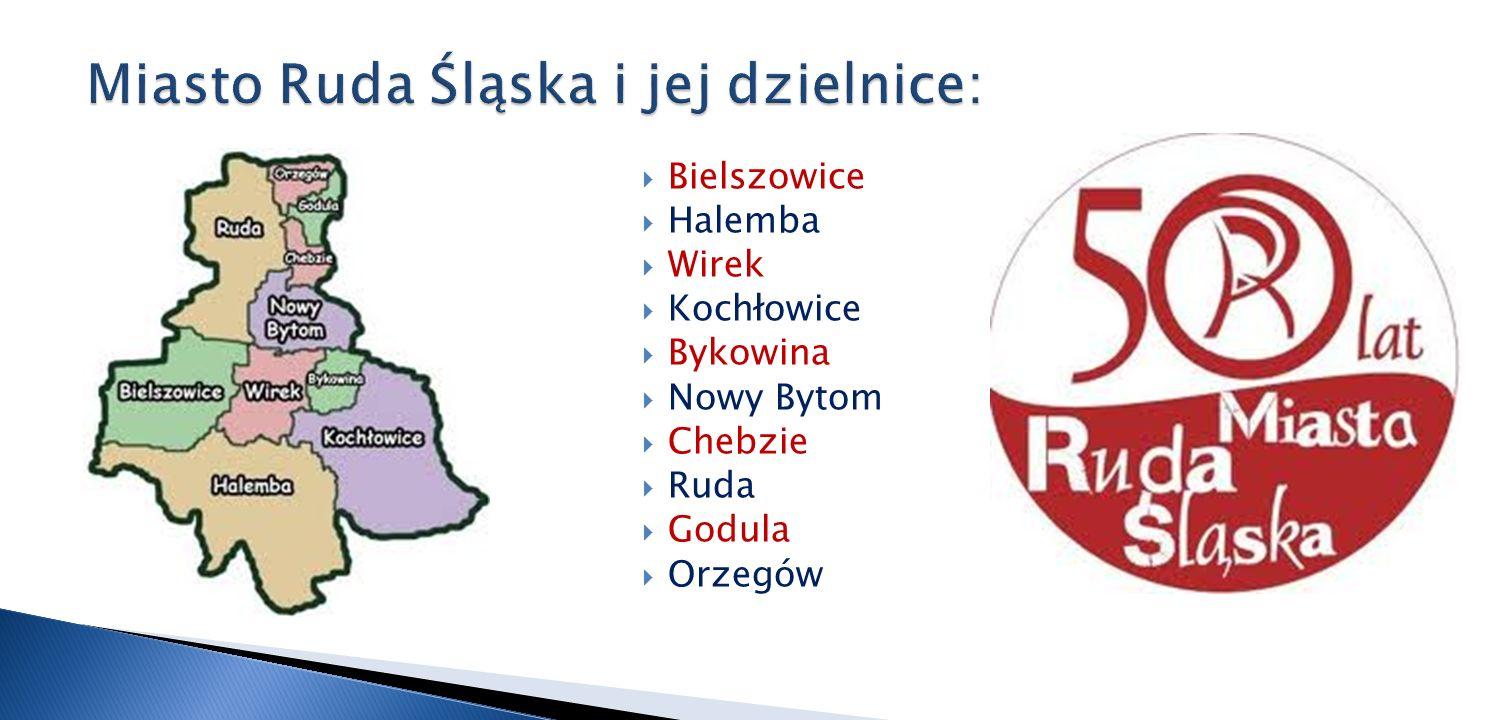 Bielszowice Halemba Wirek Kochłowice Bykowina Nowy Bytom Chebzie Ruda Godula Orzegów