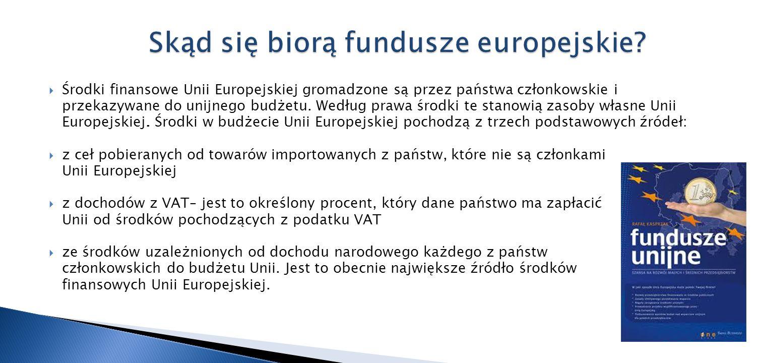 Środki finansowe Unii Europejskiej gromadzone są przez państwa członkowskie i przekazywane do unijnego budżetu. Według prawa środki te stanowią zasoby