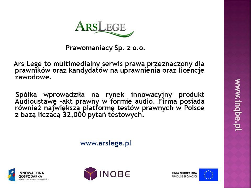 Prawomaniacy Sp. z o.o. Ars Lege to multimedialny serwis prawa przeznaczony dla prawników oraz kandydatów na uprawnienia oraz licencje zawodowe. Spółk