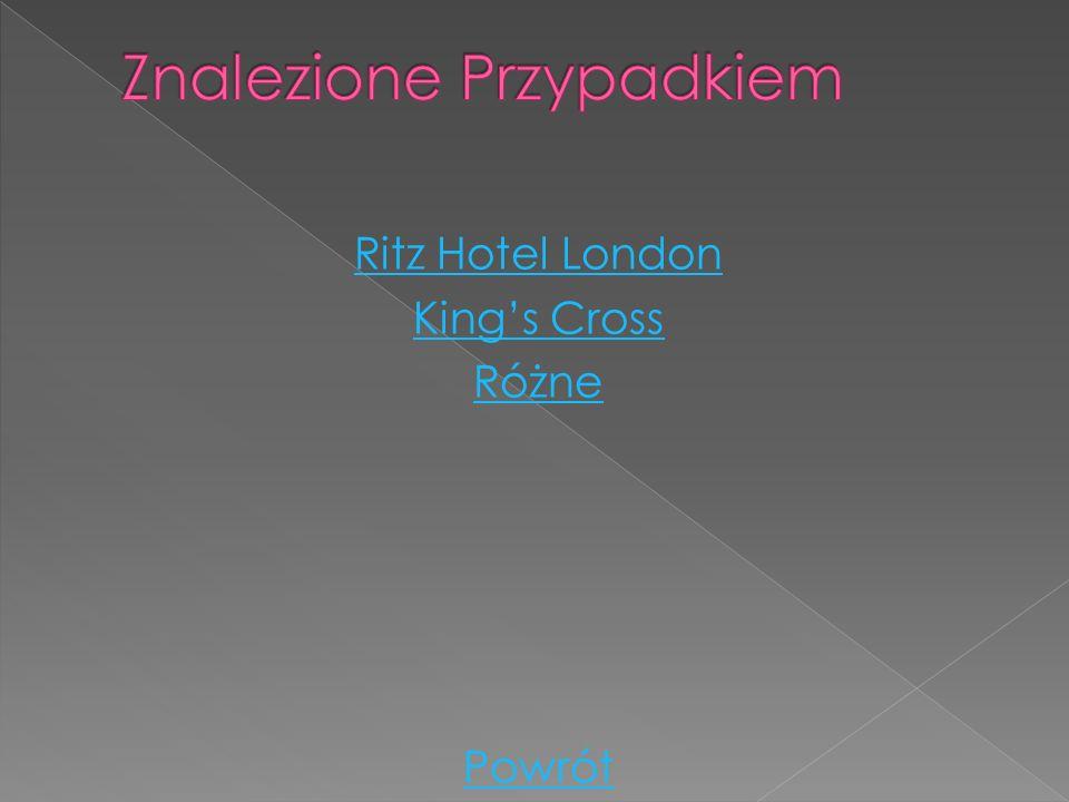 Ritz Hotel London Kings Cross Różne Powrót
