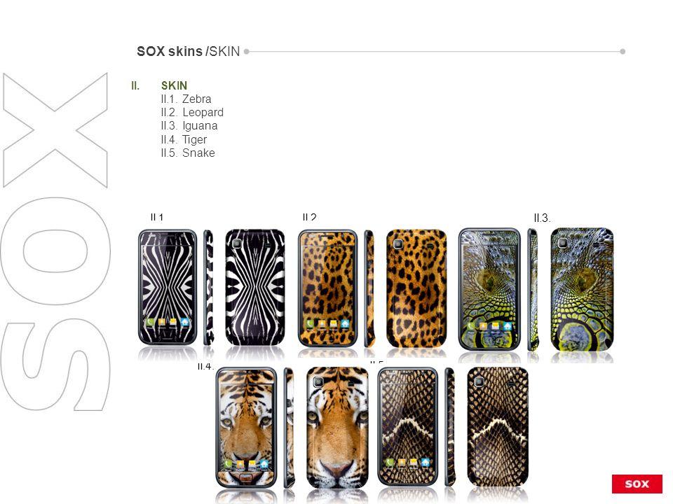 II.1. II.2. II.3. II.4. II.5. II.SKIN II.1. Zebra II.2.