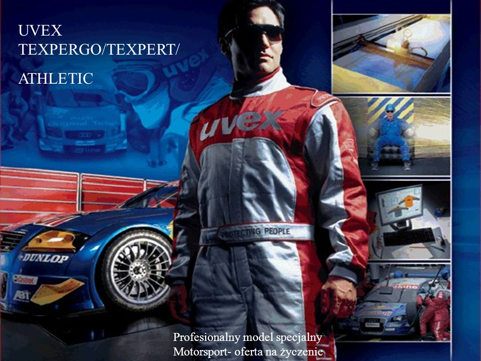 UVEX TEXPERGO/TEXPERT/ ATHLETIC Profesionalny model specjalny Motorsport- oferta na życzenie