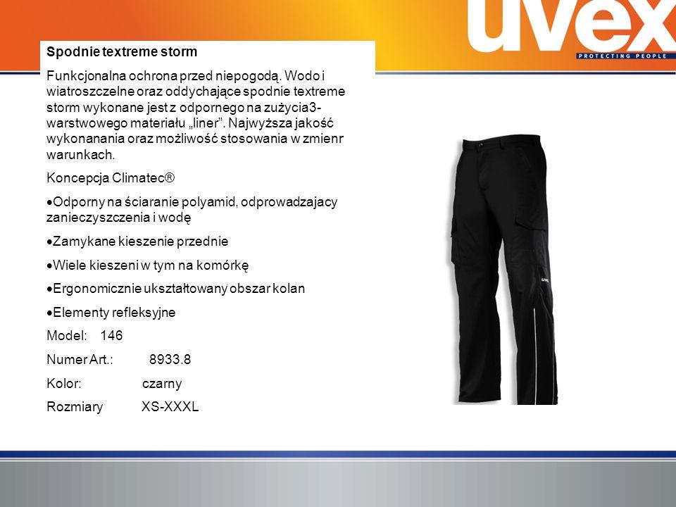 Spodnie textreme storm Funkcjonalna ochrona przed niepogodą. Wodo i wiatroszczelne oraz oddychające spodnie textreme storm wykonane jest z odpornego n