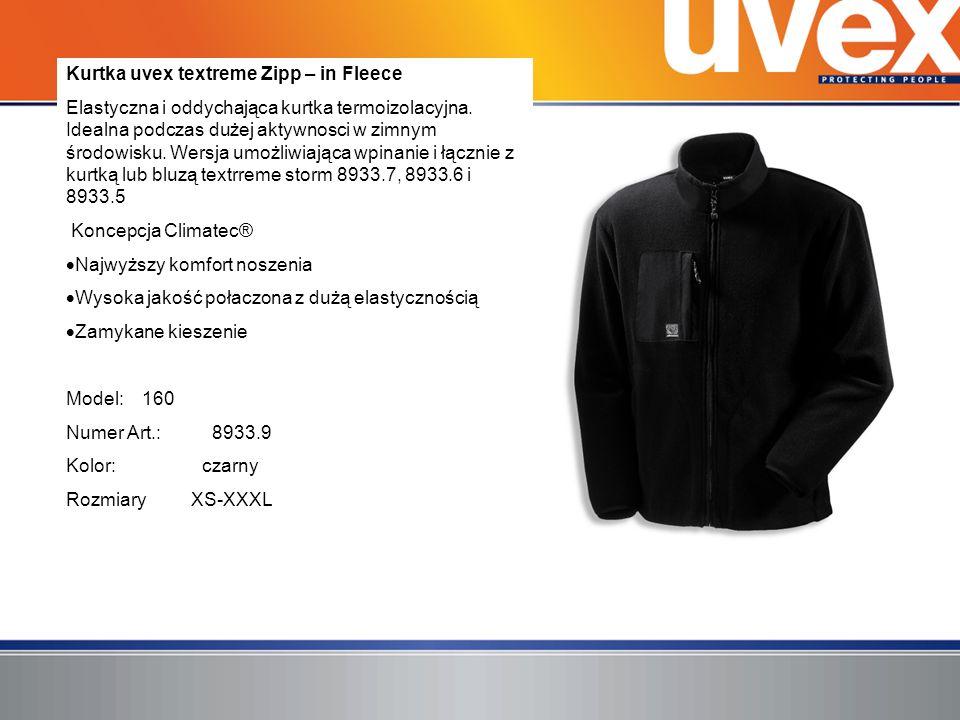 Kurtka uvex textreme Zipp – in Fleece Elastyczna i oddychająca kurtka termoizolacyjna. Idealna podczas dużej aktywnosci w zimnym środowisku. Wersja um