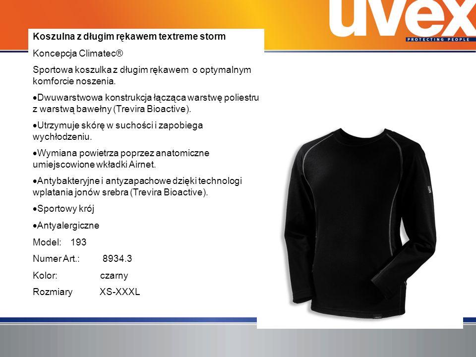 Koszulna z długim rękawem textreme storm Koncepcja Climatec® Sportowa koszulka z długim rękawem o optymalnym komforcie noszenia. Dwuwarstwowa konstruk