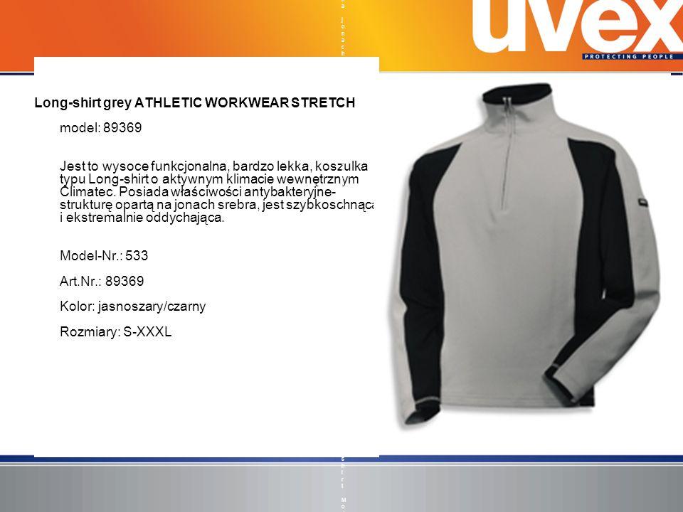 Long-shirt grey ATHLETIC WORKWEAR STRETCH model: 89369 Jest to wysoce funkcjonalna, bardzo lekka, koszulka typu Long-shirt o aktywnym klimacie wewnętr