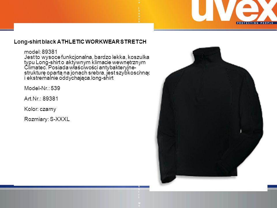 Long-shirt black ATHLETIC WORKWEAR STRETCH model: 89381 Jest to wysoce funkcjonalna, bardzo lekka, koszulka typu Long-shirt o aktywnym klimacie wewnęt