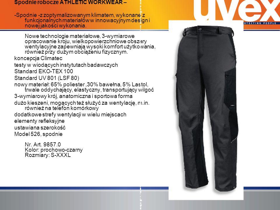 Spodnie robocze ATHLETIC WORKWEAR – -Spodnie -z zoptymalizowanym klimatem, wykonane z funkcjonalnych materiałów w innowacyjnym design i nowej jakości