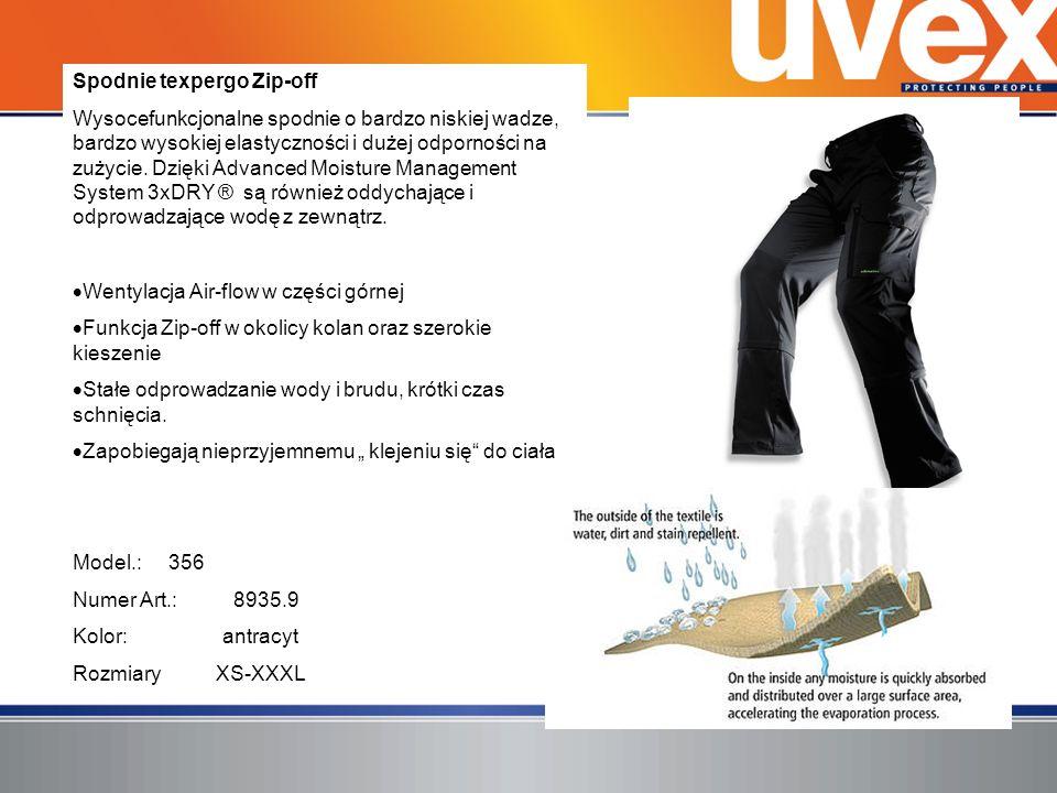 Spodnie texpergo Zip-off Wysocefunkcjonalne spodnie o bardzo niskiej wadze, bardzo wysokiej elastyczności i dużej odporności na zużycie. Dzięki Advanc