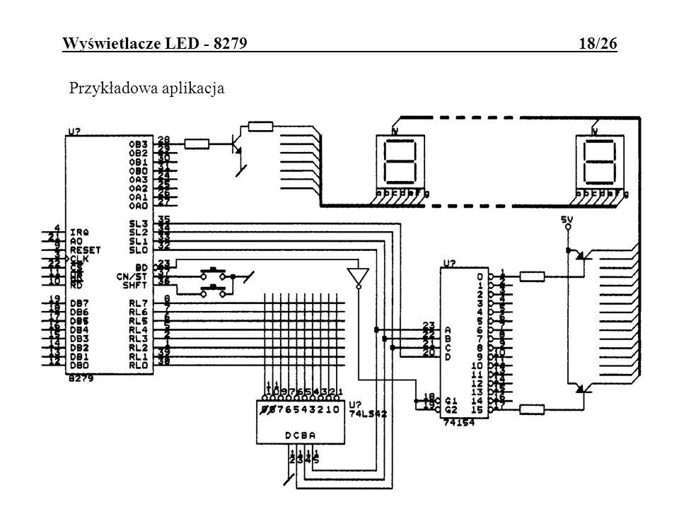Wyświetlacze LED - 8279 18/26 Przykładowa aplikacja