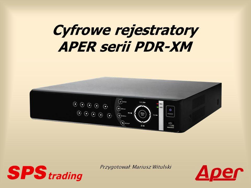 Podstawowe cechy Klasa rejestratorów: autonomiczne (stand-alone) Platforma systemowa: Linux wbudowany (Embedded Linux) Wielozadaniowość: kwadrupleks PDR-XM3004 PDR-XM3008 PDR-XM3016
