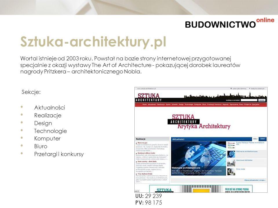 Sztuka-architektury.pl Wortal istnieje od 2003 roku. Powstał na bazie strony internetowej przygotowanej specjalnie z okazji wystawy The Art of Archite