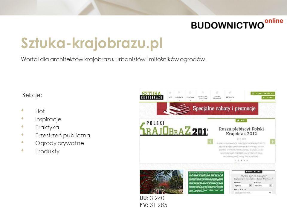 Sztuka-krajobrazu.pl Wortal dla architektów krajobrazu, urbanistów i miłośników ogrodów. Sekcje: Hot Inspiracje Praktyka Przestrzeń publiczna Ogrody p