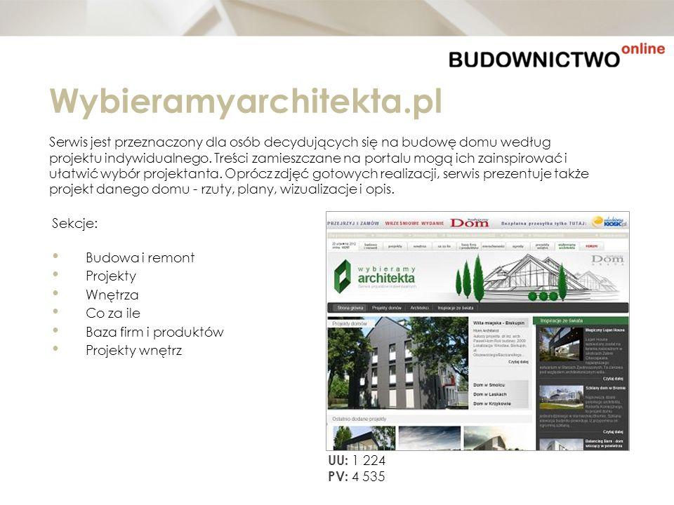 Wybieramyarchitekta.pl Serwis jest przeznaczony dla osób decydujących się na budowę domu według projektu indywidualnego. Treści zamieszczane na portal
