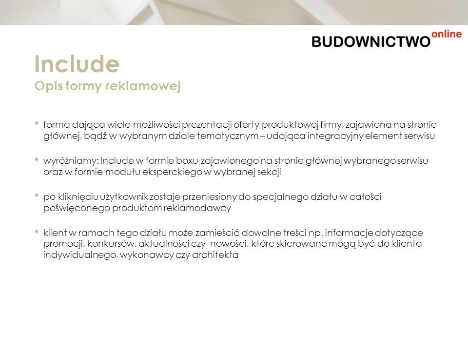 forma dająca wiele możliwości prezentacji oferty produktowej firmy, zajawiona na stronie głównej, bądź w wybranym dziale tematycznym – udająca integra
