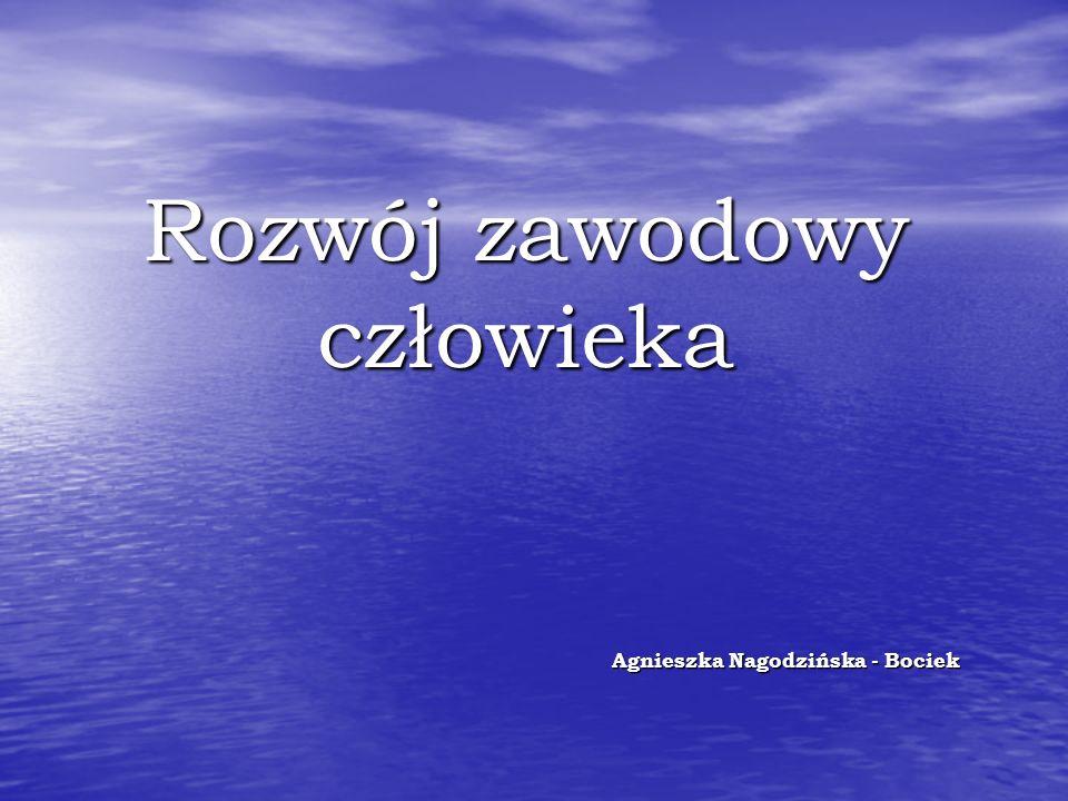 Rozwój zawodowy człowieka Agnieszka Nagodzińska - Bociek