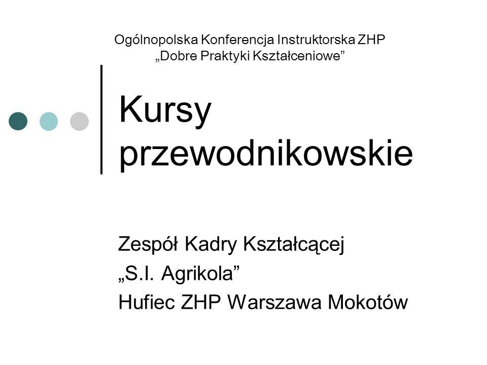Kursy przewodnikowskie Zespół Kadry Kształcącej S.I. Agrikola Hufiec ZHP Warszawa Mokotów Ogólnopolska Konferencja Instruktorska ZHP Dobre Praktyki Ks